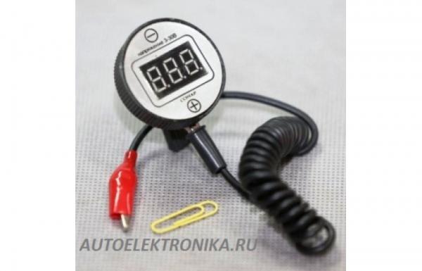 Портативный вольтметр Сонар (на клипсе, 3 - 30 вольт )