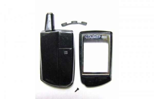 Корпус брелока СТАЛКЕР-600LAN3 черный, клеевой шов.