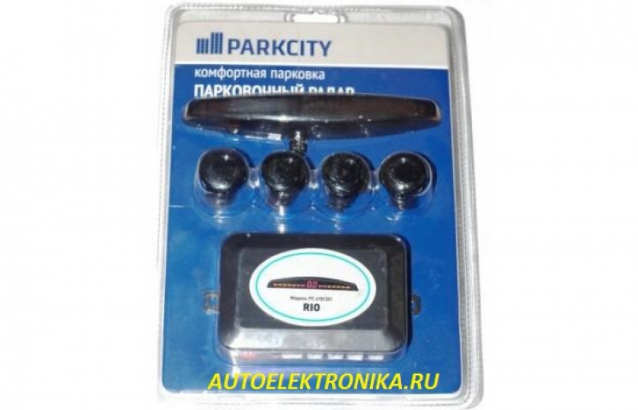 Парковочный радар ( парктроник ) ParkCity Rio 418/201 black