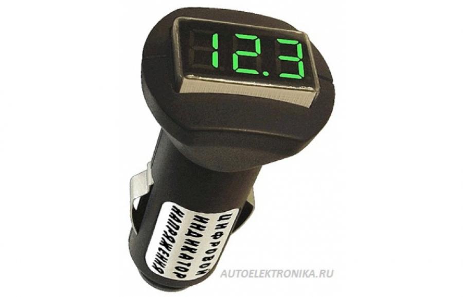 Цифровой индикатор напряжения в прикуриватель Avtel A102 12v (24v)